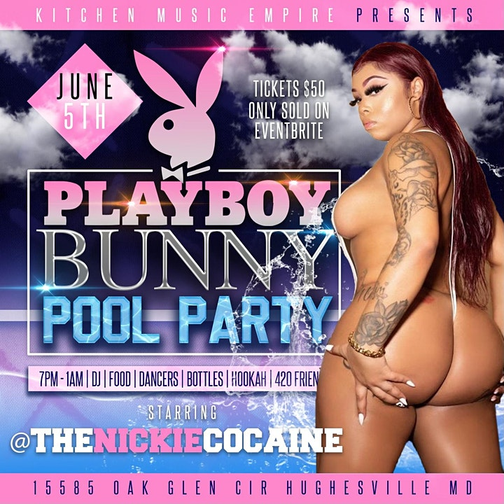 The playboy bunny pool party image