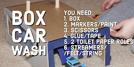 Creative Corner - Think Outside the Box: Box Car Wash tickets