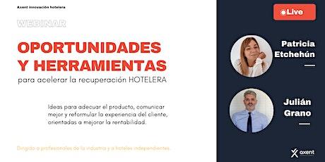 Oportunidades para acelerar la recuperación HOTELERA entradas