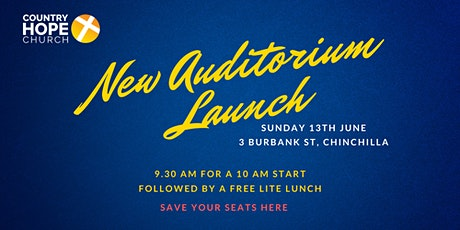 New Auditorium Launch - Chinchilla tickets