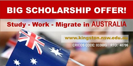 Study and Migrate to Australia with Kingston Institute Academy! tickets