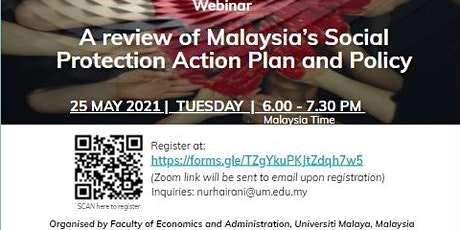 Webinar: A review of Malaysia's Social Protection Action Plan and Policy tickets