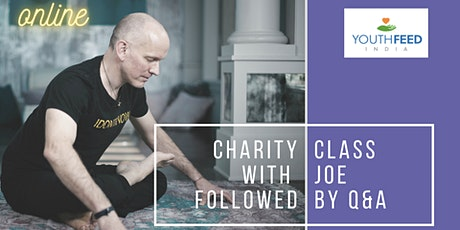 CHARITY YIN CLASS, Q&A with Joe Barnett supporting YOUTH FEED INDIA tickets