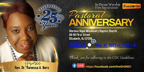 Pastoral Anniversary 5-16-21 tickets