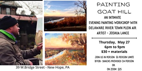 PAINT THE CANAL: An intimate evening painting workshop with Joshua Lance tickets