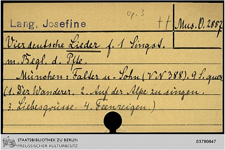 30 Years' Adventure Tracking the Music of Josephine Lang (1815-80) image