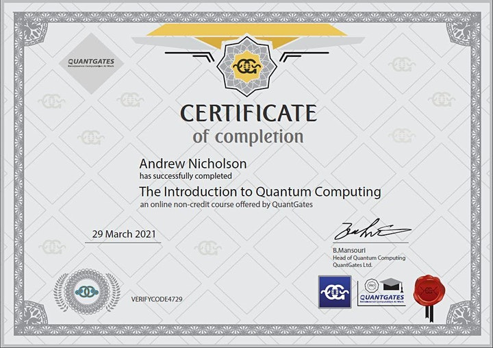 The Introduction to Quantum Computing with Python- 1 Month Course image