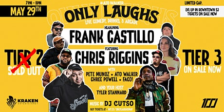 Only Laughs  with Frank Castillo & Jay Rich - Presented by Mr Ato Walker tickets