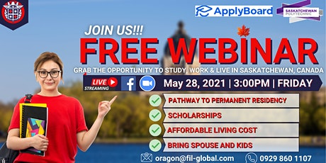 FREE WEBINAR: GRAB THE OPPORTUNITY TO STUDY, WORK & LIVE  IN CANADA tickets