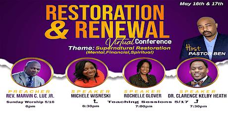 Restoration & Renewal Conference tickets