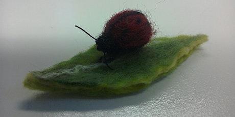 Beginner's Needle Felting - Ladybird Brooch tickets