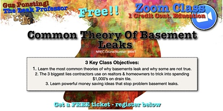 Common Theories of Basement Leaks tickets