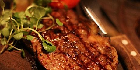 Steak with Red Wine Tasting 13/08/21 tickets
