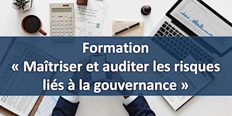 """Formation """" Maîtriser et auditer les risques liés à la gouvernance """" billets"""