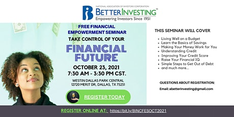 BetterInvesting 2021 National Convention Financial Empowerment Seminar tickets