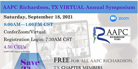 9/18/2021 AAPC Richardson, TX VIRTUAL Annual Symposium tickets