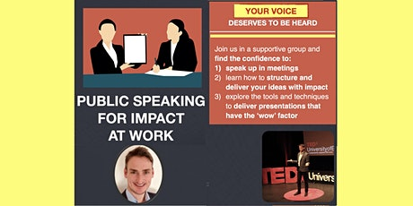 Public speaking for impact at work [ONLINE] tickets