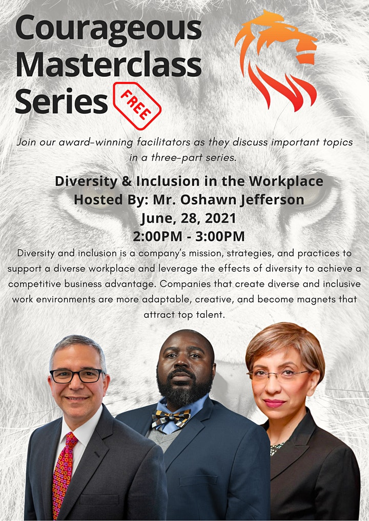 Courageous MasterClass Series #1: Diversity and Inclusion in the Workplace image