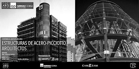 ESTRUCTURAS DE ACERO-PICCIOTTO ARQUITECTOS: conferencia en línea entradas