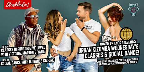 Movem Friends Urban Kizomba Wednesdays - Online & Local groups tickets
