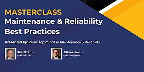Masterclass Maintenance & Reliability Best Practices (CMRP Prep) - Americas tickets