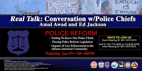Real Talk: Conversation w/Police Chiefs Amal Awad and Ed Jackson tickets