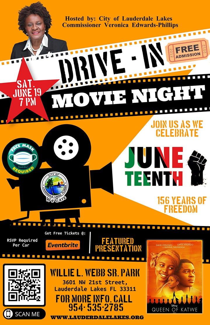 Juneteenth Movie Drive -in Night : The Queen of Katwe image
