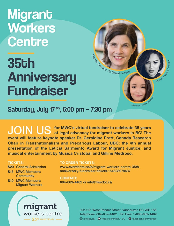 Migrant Workers Centre 35th Anniversary Fundraiser image