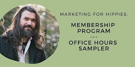 MfH Membership Program Office Hours Sampler tickets