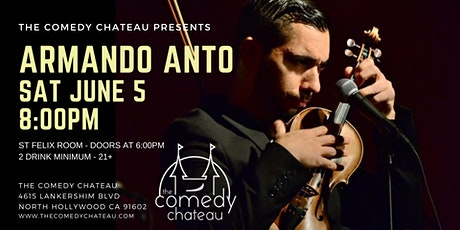 Armando Anto at the Comedy Chateau tickets