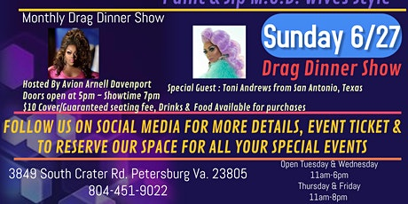 Sunday, June 27th 7pm DRAG Dinner Show tickets