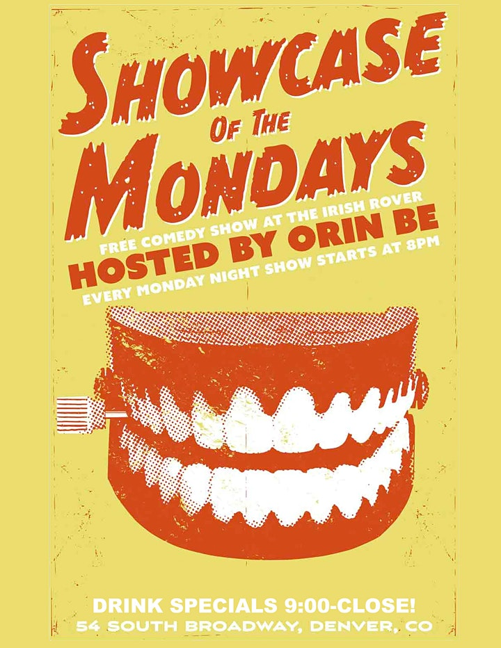 Free Live Comedy Show at the Irish Rover. Showcase of the Mondays! image