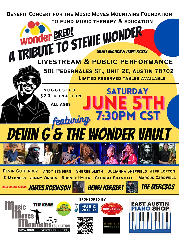 Music Moves Mountains Foundation Benefit Concert: Tribute to Stevie Wonder image