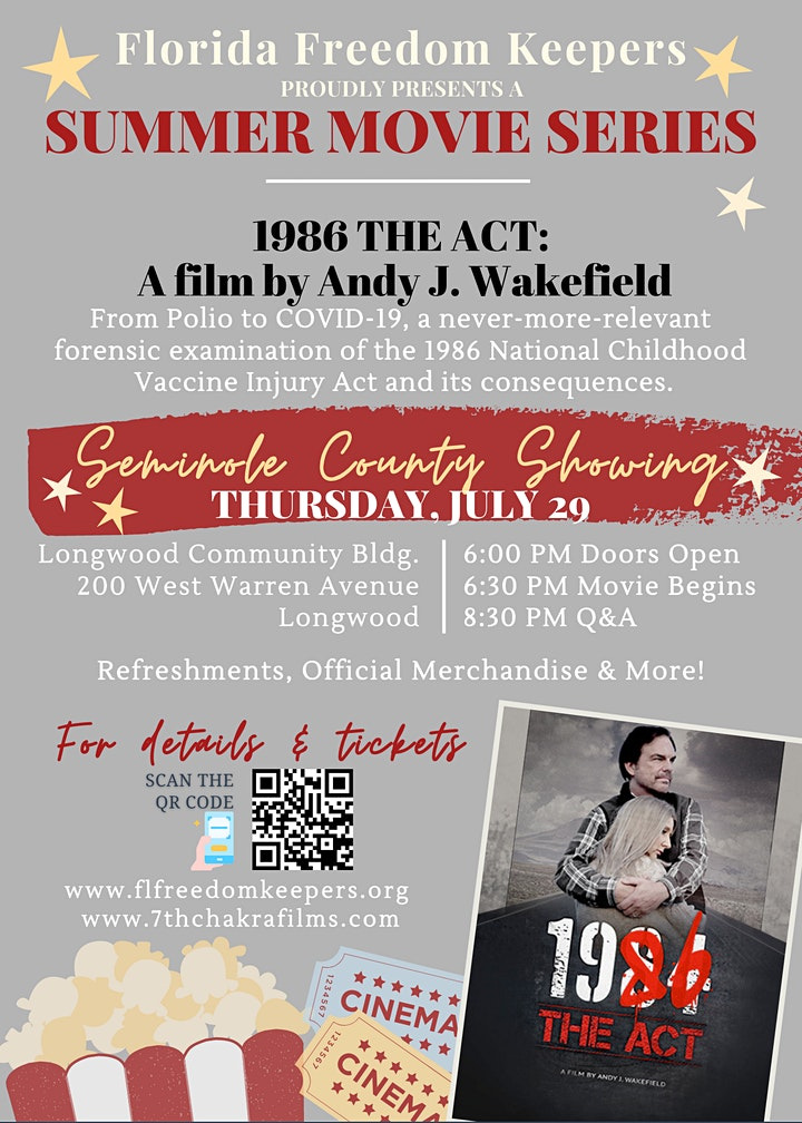 FFK's Summer Movie Series - 1986: The Act (SEMINOLE COUNTY) image