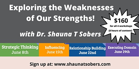 Exploring the Weakness of Our CliftonStrengths Workshop Series tickets