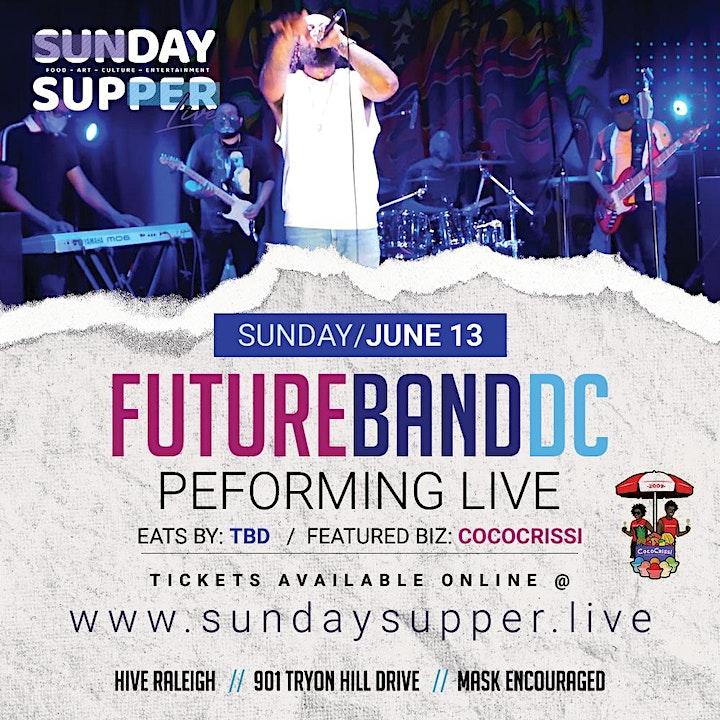 FutureBandDC  // CocoCrissi   Sunday Supper. Live! image