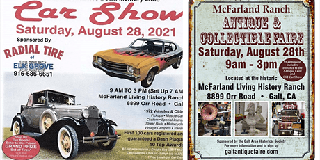 GAHS Car Show & McFarland Ranch Antique Faire tickets