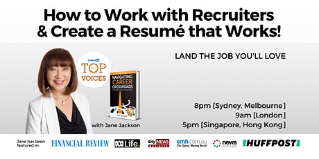 How to Work with Recruiters and Optimise Your Resumé for Success tickets