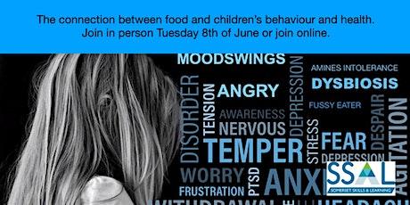 Food as medicine, to help improve children's health, behaviour and sleep tickets