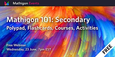 Mathigon 101: Secondary tickets