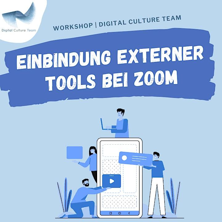 Einbindung externer Tools bei Zoom: Bild