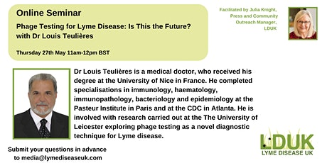 Phage Testing for Lyme disease: Is This the Future? - Dr Louis Teulières tickets
