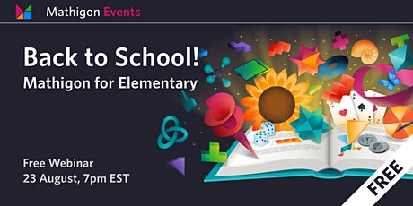 Back to School with Mathigon: Elementary tickets