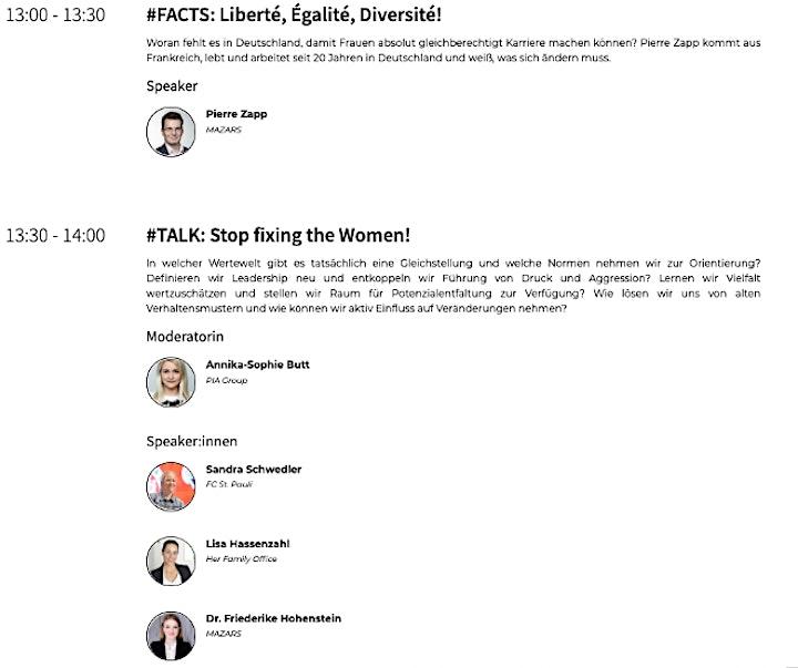 Mission Female X-CHANGE Konferenz: Bild