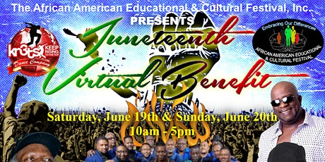 THE AAECF'S VIRTUAL JUNETEENTH BENEFIT FESTIVAL-  SATURDAY, JUNE 19TH, 2021 tickets