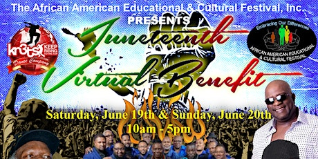 THE AAECF'S VIRTUAL JUNETEENTH BENEFIT FESTIVAL- SUNDAY, JUNE 20TH, 2021 tickets