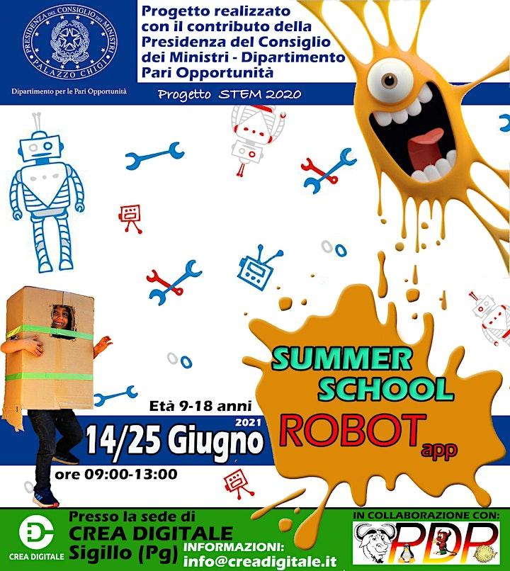 Immagine SummerSchool RobotApp: biglietti ragazze e ragazzi.