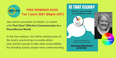 WEBINAR: Is that clear? Effective communication in a neurodiverse world tickets