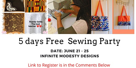 FREE DAYS ONLINE SEWING PARTY tickets