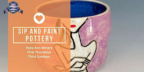Sip and Paint Pottery Party at Roxy Ann Winery tickets